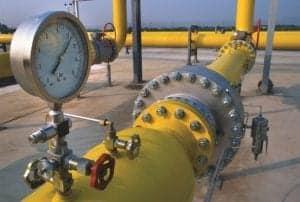 long winding water pipeline