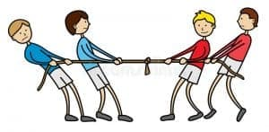 Team tug of war ideal team size